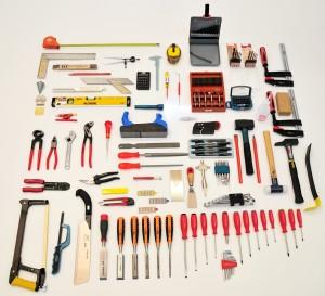 Werkzsatz für Tragbar-Werkzeugkiste